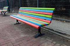 ספסל צבעוני