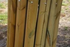 אשפתון עץ עגול